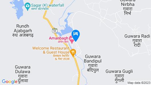 Amanbagh - Alwar Map