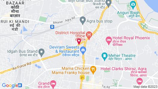 Hotel Aditya Palace Map