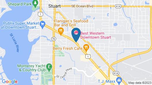 Best Western Downtown Stuart Map