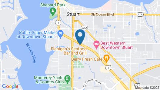 Quality Inn Downtown Stuart Map