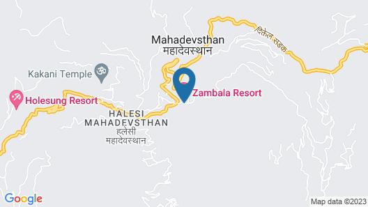 Zambala Halesi Resort Map