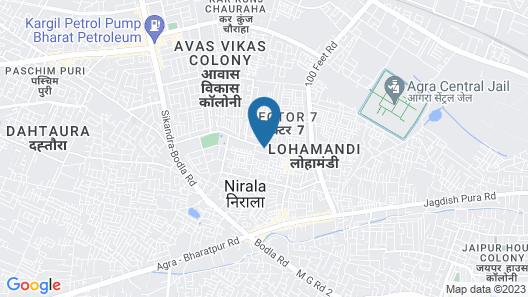OYO 13125 Hotel Gwal Palace Map
