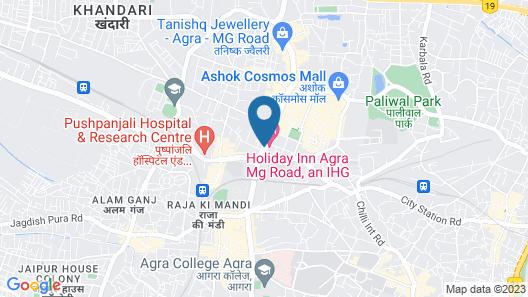 Holiday Inn Agra MG Road Map
