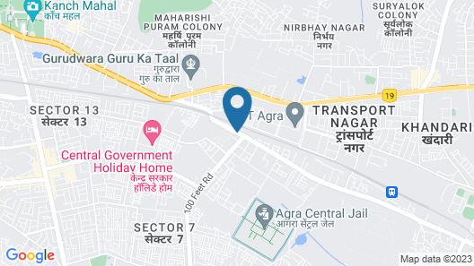 Bhawna Clarks Inn - Agra Map
