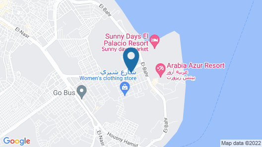 (G)One-bedroom apartment on the Red Sea in Hurghada with pool and beach Map