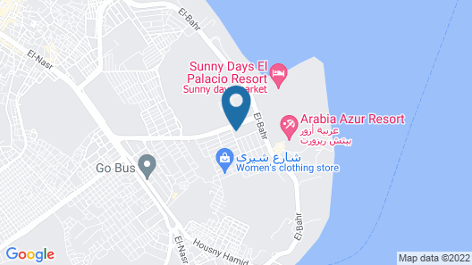 Apartment with 1 bedroom 2 balconies with pool view 100m to the beach free WiFi Map