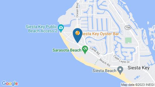 Siesta Key Beach Resort & Suites; Tiki & Pool Map