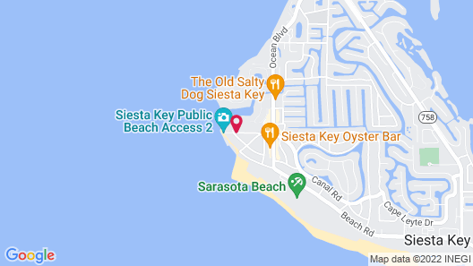 Gulf Holiday by Beachside Management Map