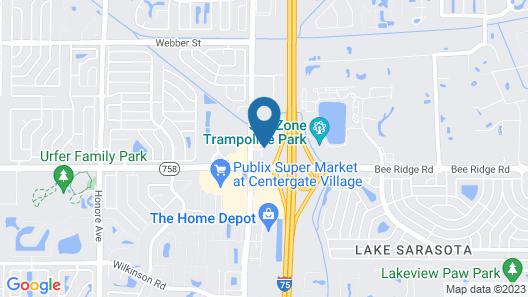 Hampton Inn Sarasota - I-75 Bee Ridge Map
