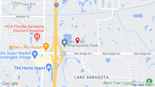 Home2 Suites Sarasota I-75 Bee Ridge, FL Map