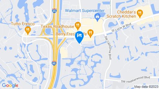 Hampton Inn Suites Port St Lucie, West Map