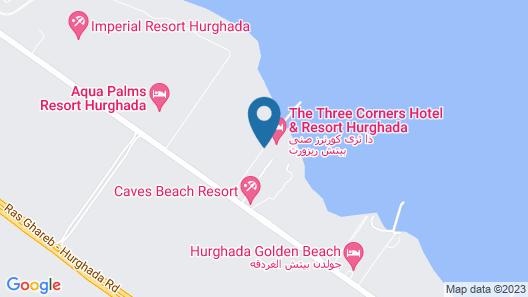 Three Corners Sunny Beach Resort Map