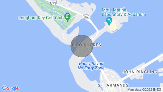 Lido Rondy Home: 4 BR / 4 BA Home on Lido Key by Rva, Sleeps 8 Map
