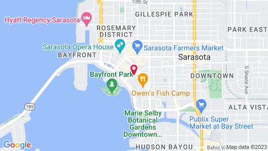 Aloft Sarasota Map