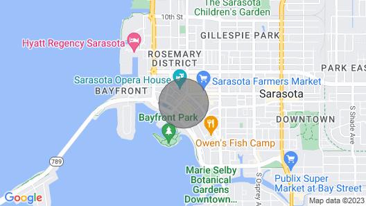 1350 Main St. Sarasota, Florida Map