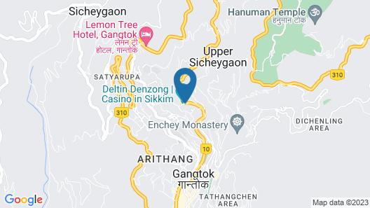 Sinclairs Gangtok Map