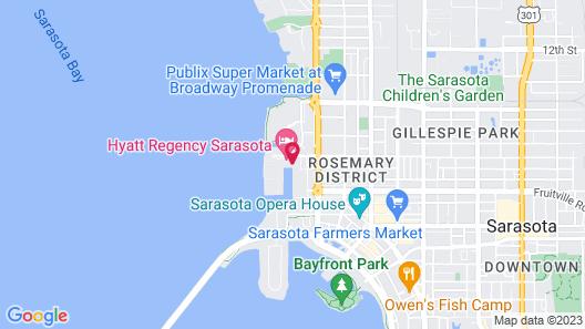Hyatt Regency Sarasota Map