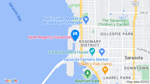 Hyatt Regency Sarasota Map