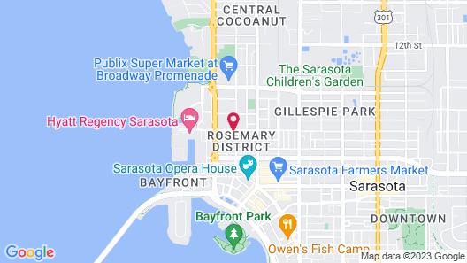 The Sarasota Modern, a Tribute Portfolio Hotel Map