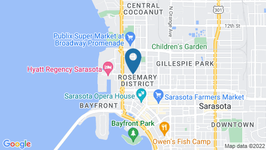 The Sarasota Modern, a Tribute Portfolio Hotel Map