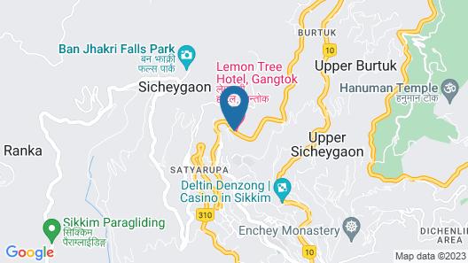 Lemon Tree Hotel Gangtok Map
