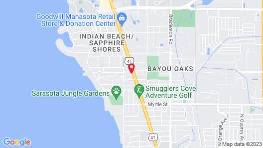 Super 8 by Wyndham Sarasota Near Siesta Key Map