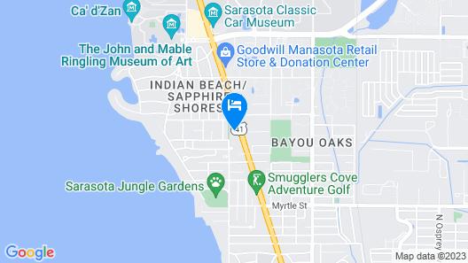 Golden Host Resort - Sarasota Map