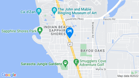 Quality Inn Sarasota North Near Lido Key Beach Map