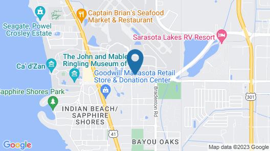Kompose Hotel Sarasota Map