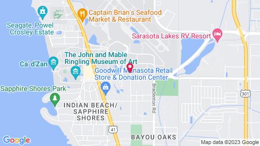 Hampton Inn Suites Sarasota/Bradenton Airport Map