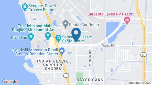Hampton Inn Suites Sarasota/Bradenton Airport Map