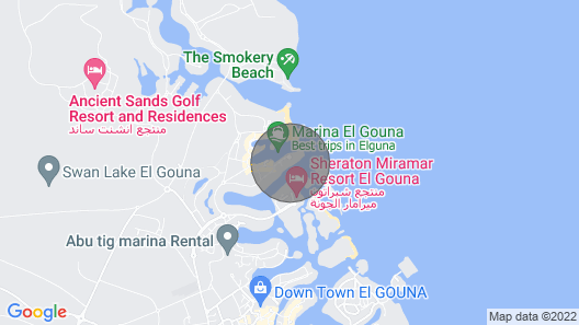 El Gouna two bed Rooms Apartment Map