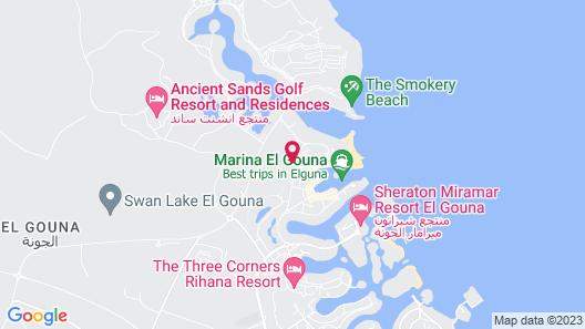 The Three Corners Rihana Resort Map