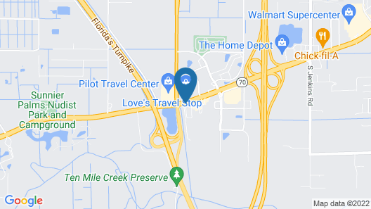 Holiday Inn Express Hotel & Suites Fort Pierce West Map