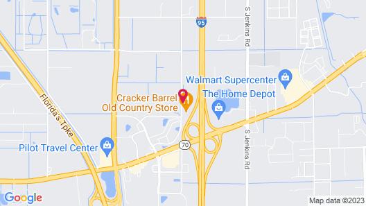 Motel 6 Ft. Pierce, FL Map