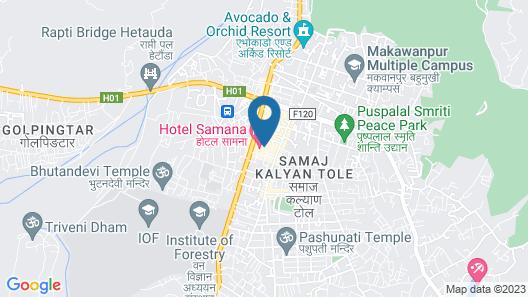 Hotel Samana Map