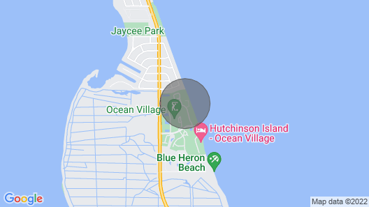 Beach Getaway With Lots to do in Hutchinson Island Map