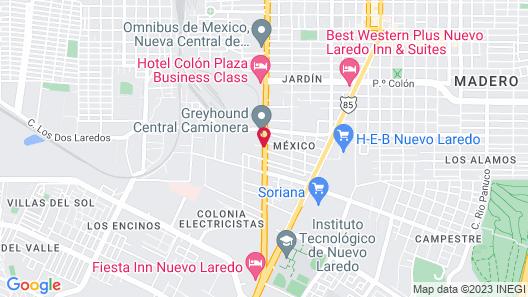City Express Nuevo Laredo Map