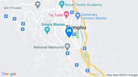 Le Meridien Thimphu Map