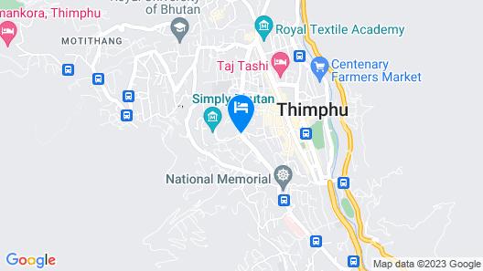 THE POSTCARD DEWA  THIMPHU Map