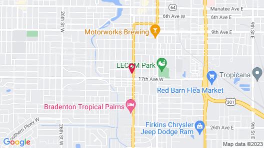 Bay Breeze Inn Map