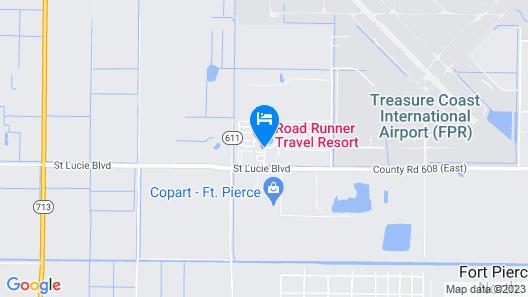 Road Runner Travel Resort - Caravan Park Map