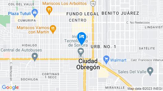 Hotel Posada del Yaqui Map