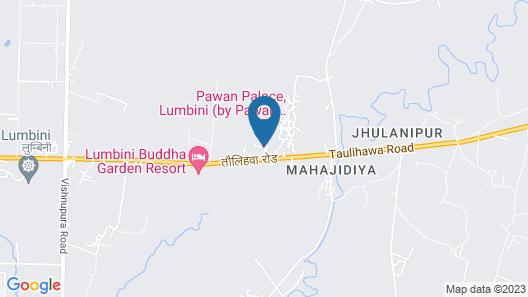 Hotel Pawan Palace Lumbini Map