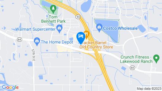 Motel 6 Bradenton, FL Map