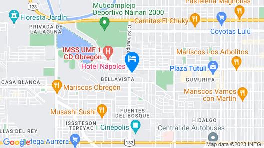 Hotel Napoles Map