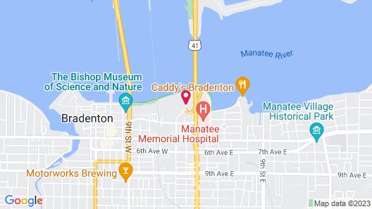 Courtyard by Marriott Bradenton Sarasota Riverfront Map