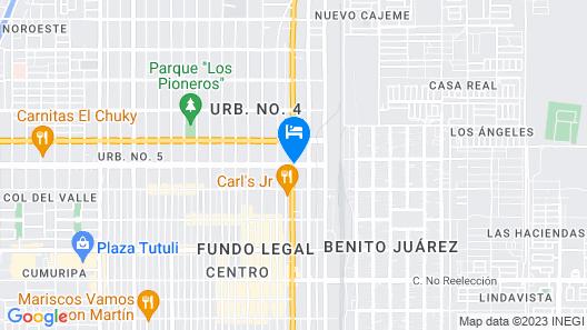 Quality Inn Ciudad Obregon Map