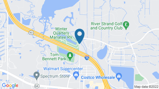 Winter Quarters Encore Manatee RV Resort Map