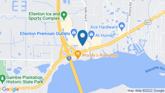 Hampton Inn Ellenton/Bradenton, FL Map